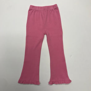 Stitchy Fish Knit Flare Pants w/Ruffle (Strawberry)