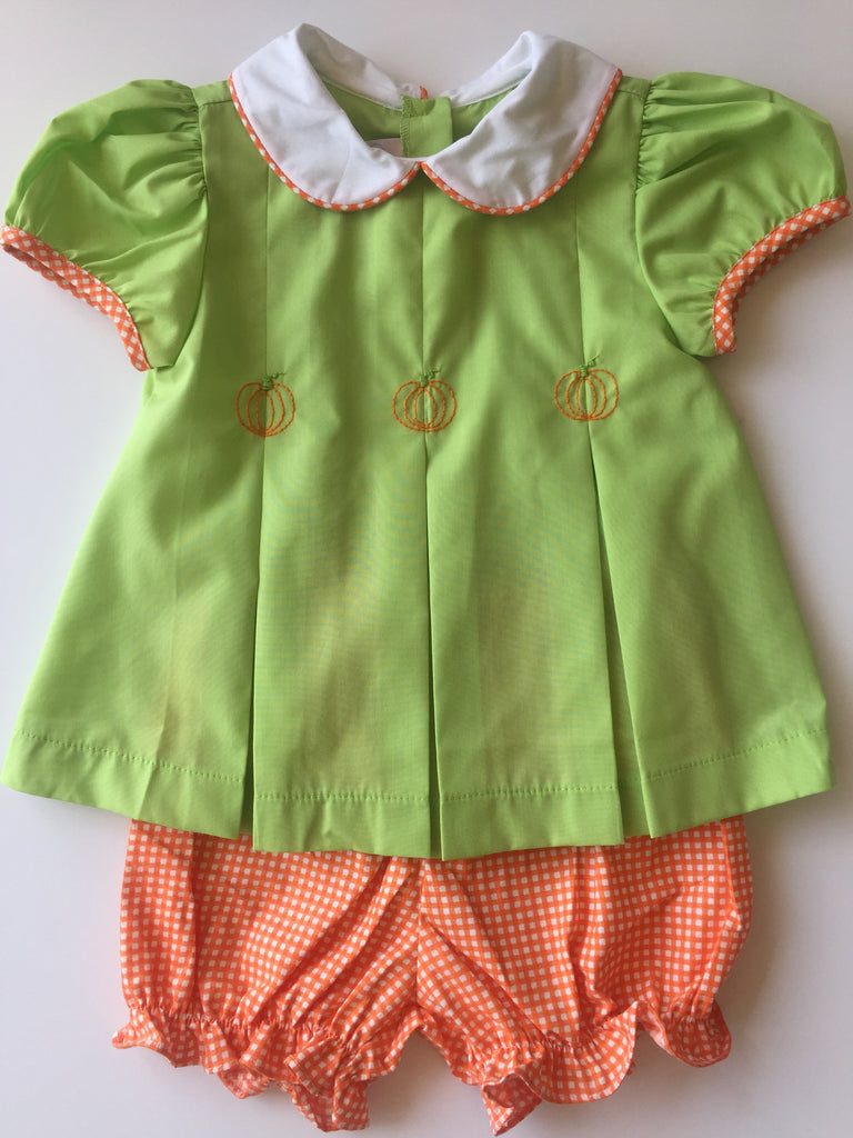Lullaby Set Pumpkin Bloomer Set