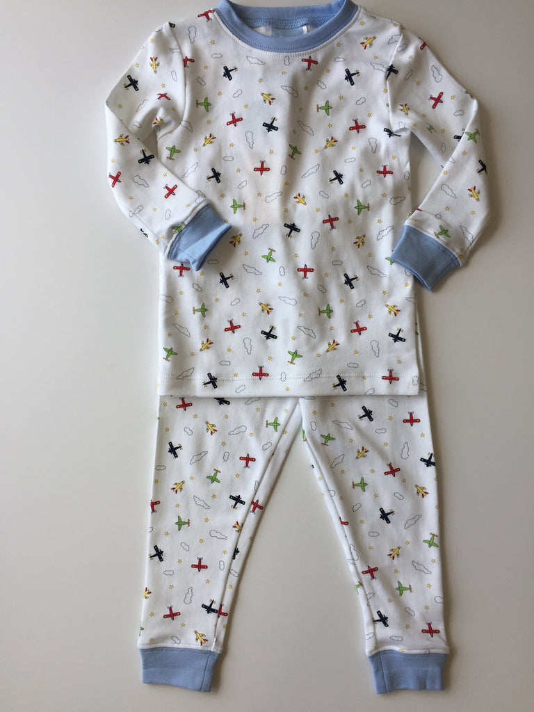 Bella Bliss Airplane Printed Pima Jammies