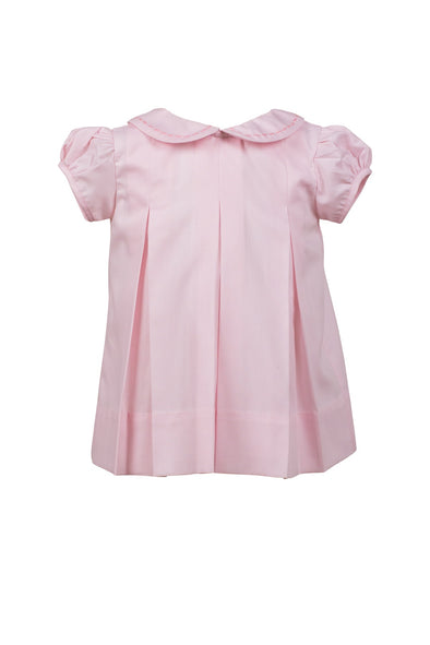 The Proper Peony Classic Peony Pleat Dress - Pink with Pink