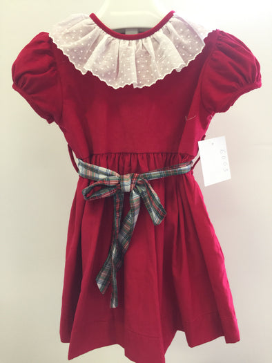 Anvy Kids Highwaist Red Cord Dress