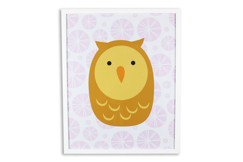 Kids Wall Art Patterned Owl 12 X 16 Proprietary Production Services