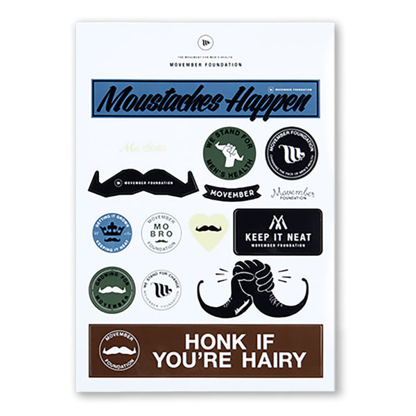 Movember Sticker Sheet