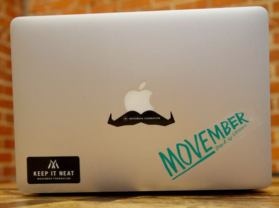 Movember Shaped by Experience Sticker