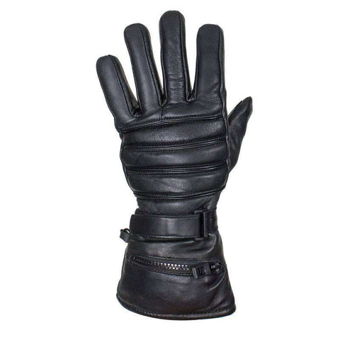 Leather Gauntlet Gloves with Rain Cover