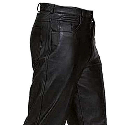 Leather Riding Pants - Black