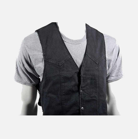 Men's Biker Vest - Apex Vest - Denim