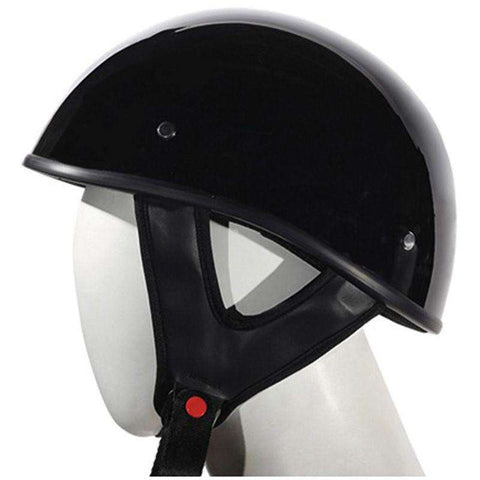 Helmet - Lo-Profile Black Helmet - Shiny