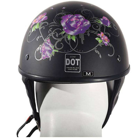 Helmet - Lo-Profile Purple Rose Helmet