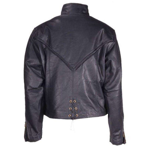 Biker Jacket - Naked Cowhide Braided Jacket