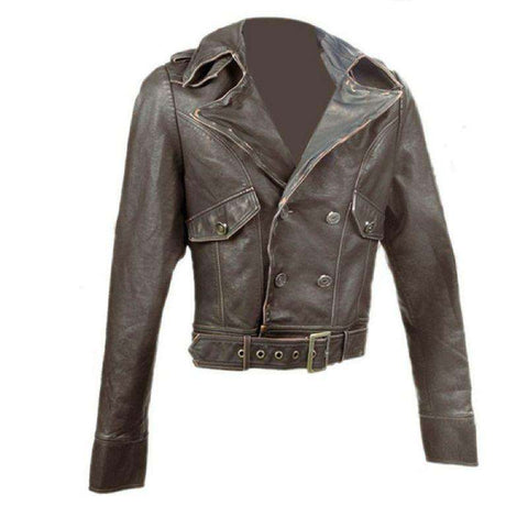 Biker Jacket - Women's Brown Cafe Racer Jacket