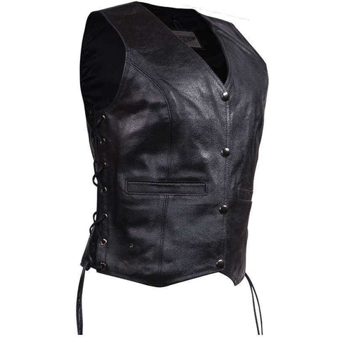 Women Leather Vest - Lady Rider Vest