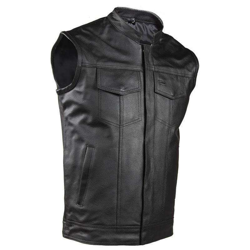 Motorcycle Club Vest - Cowhide Leather