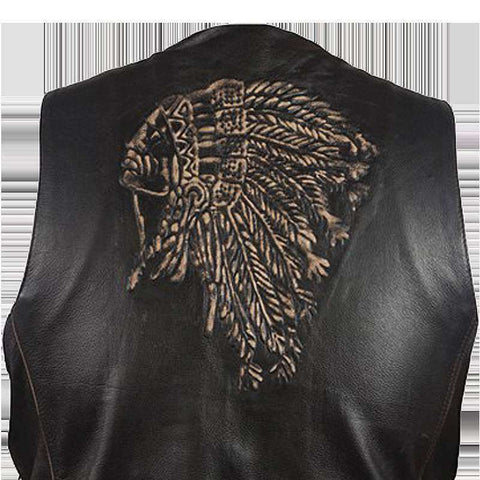 Leather Vest - Native American Vest