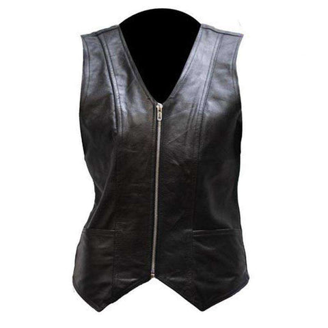 Leather Vest - Woman's Riding Vest