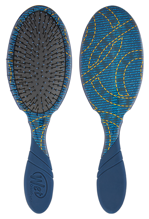 DETANGLING PRO WET BRUSH - DENIM - e1body & soul (beauty) (hair) (skincare) (haircare) (essential oils)  [natural beauty products] Shop 24/7 [Bath & Body Care]  Diffusers,