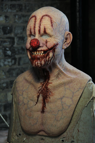 IN STOCK - Custom Man Who Laughs Clown with Cut Makeup and Sharp Teeth