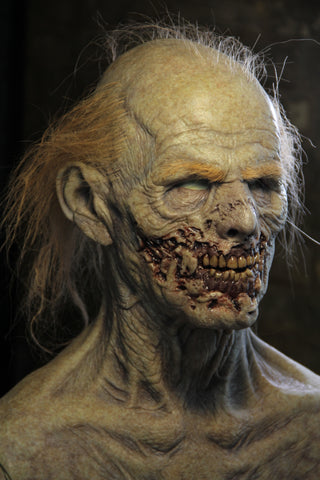 IN STOCK - The Zombie Silicone Mask Sparse Long Hair + Eyebrows