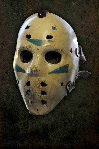 The Black Ice Hockey Slasher Mask Fiberglass Faceplate