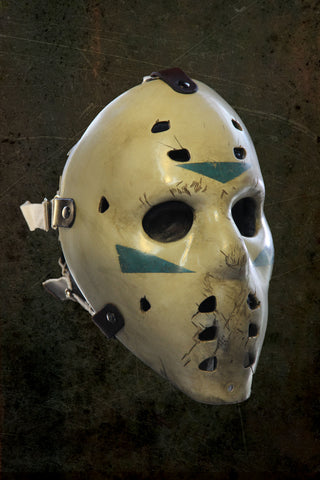 IN STOCK Black Ice Fiberglass Distressed Hockey Paint Style Faceplate