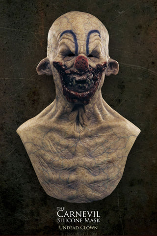 IN STOCK - The Carnival Silicone Mask Undead Clown