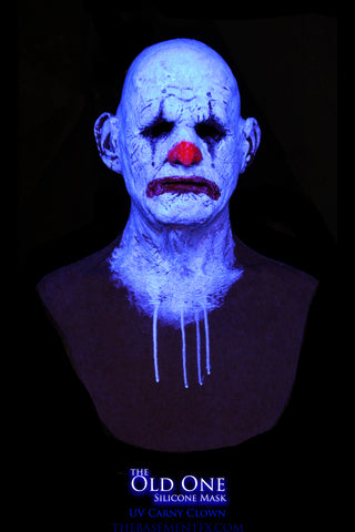 IN STOCK - The Old One Silicone Mask UV Carny Clown