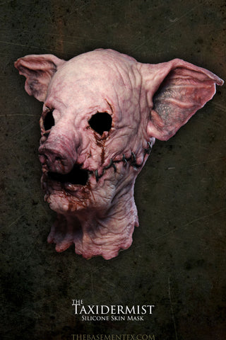 IN STOCK - The Taxidermist Pink Bloody Pig with UV Bullseye