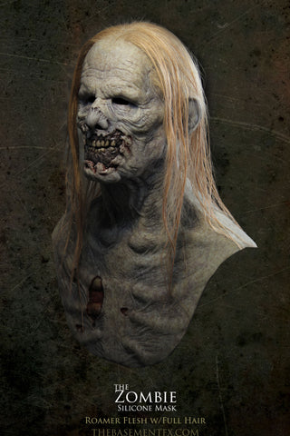IN STOCK - The Zombie Silicone Mask 100% Human Long Full Hair