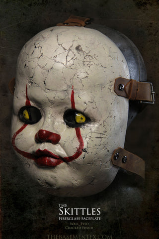 IN STOCK - Skittles Fiberglass Faceplate Pennywise Paint Style