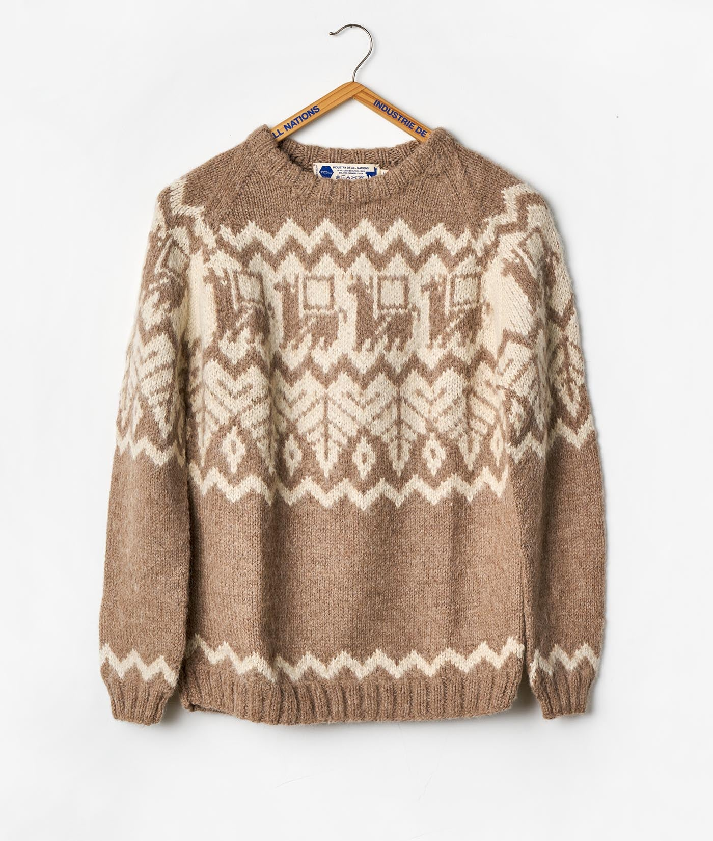 Industry of All Nations Alpaca Hand Knit Ethical Sweater