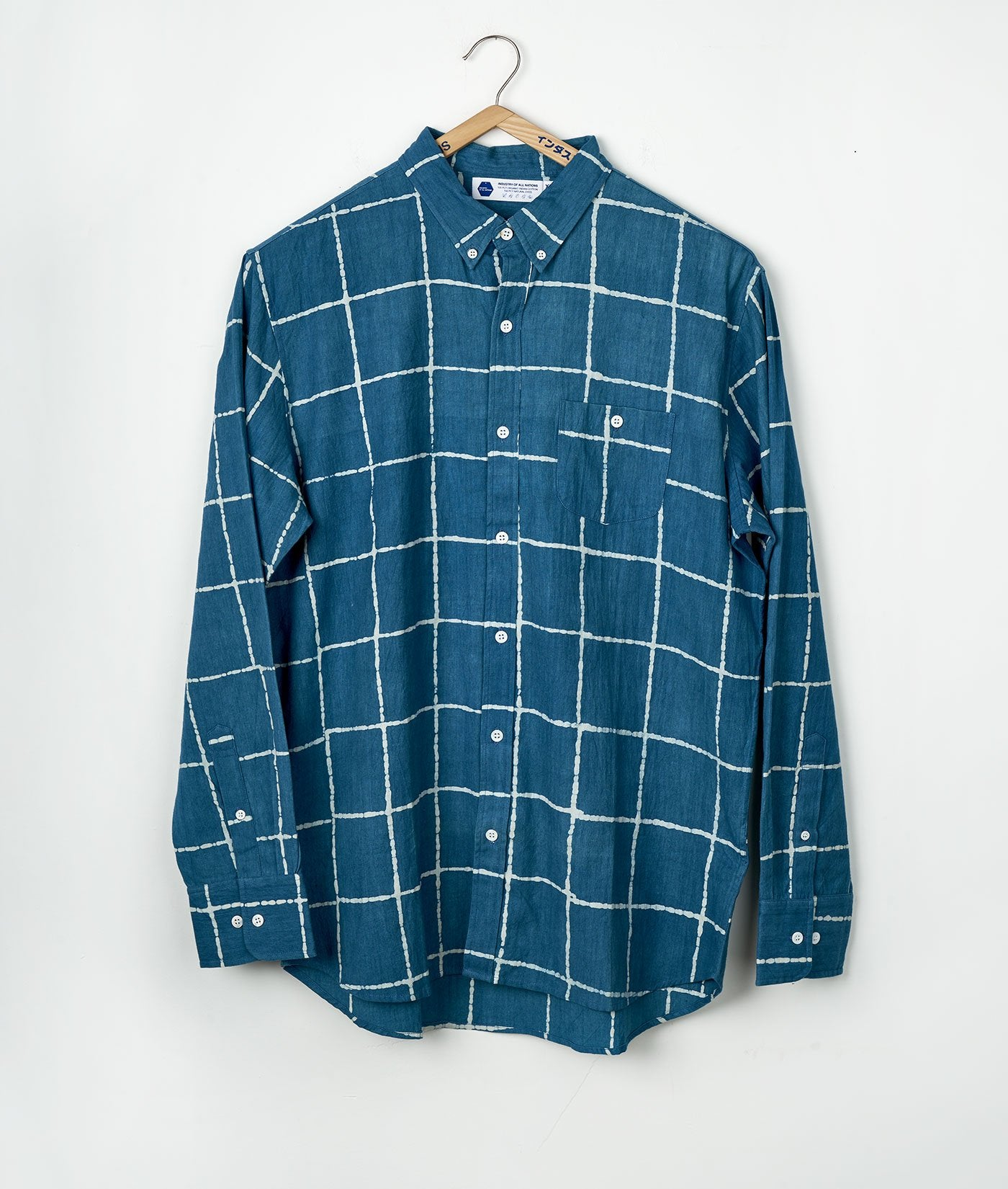 Classic Madras Shirt - Heavy Long Sleeve - Batik Squares