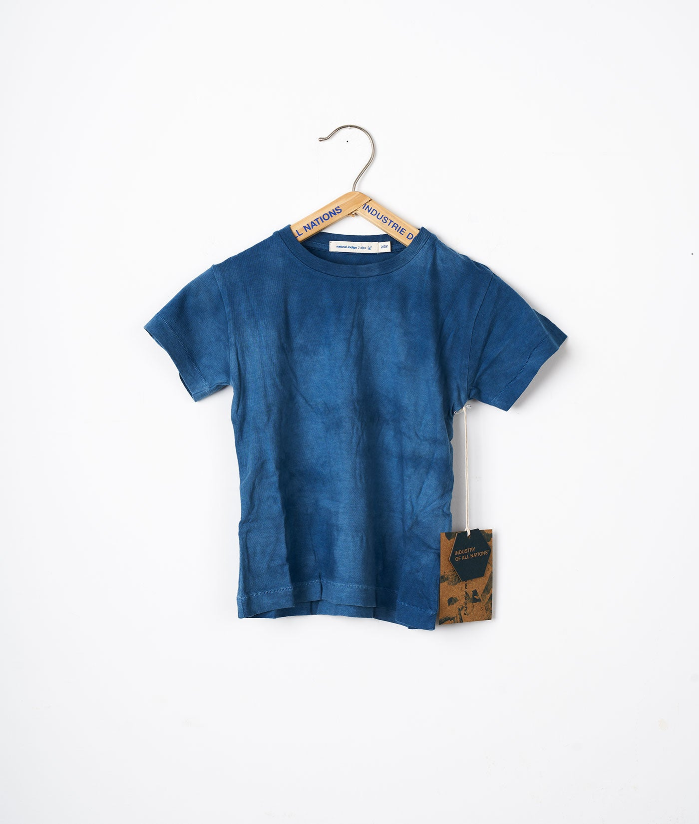 Industry of All Nations Kids Organic Cotton T-Shirt Indigo 2