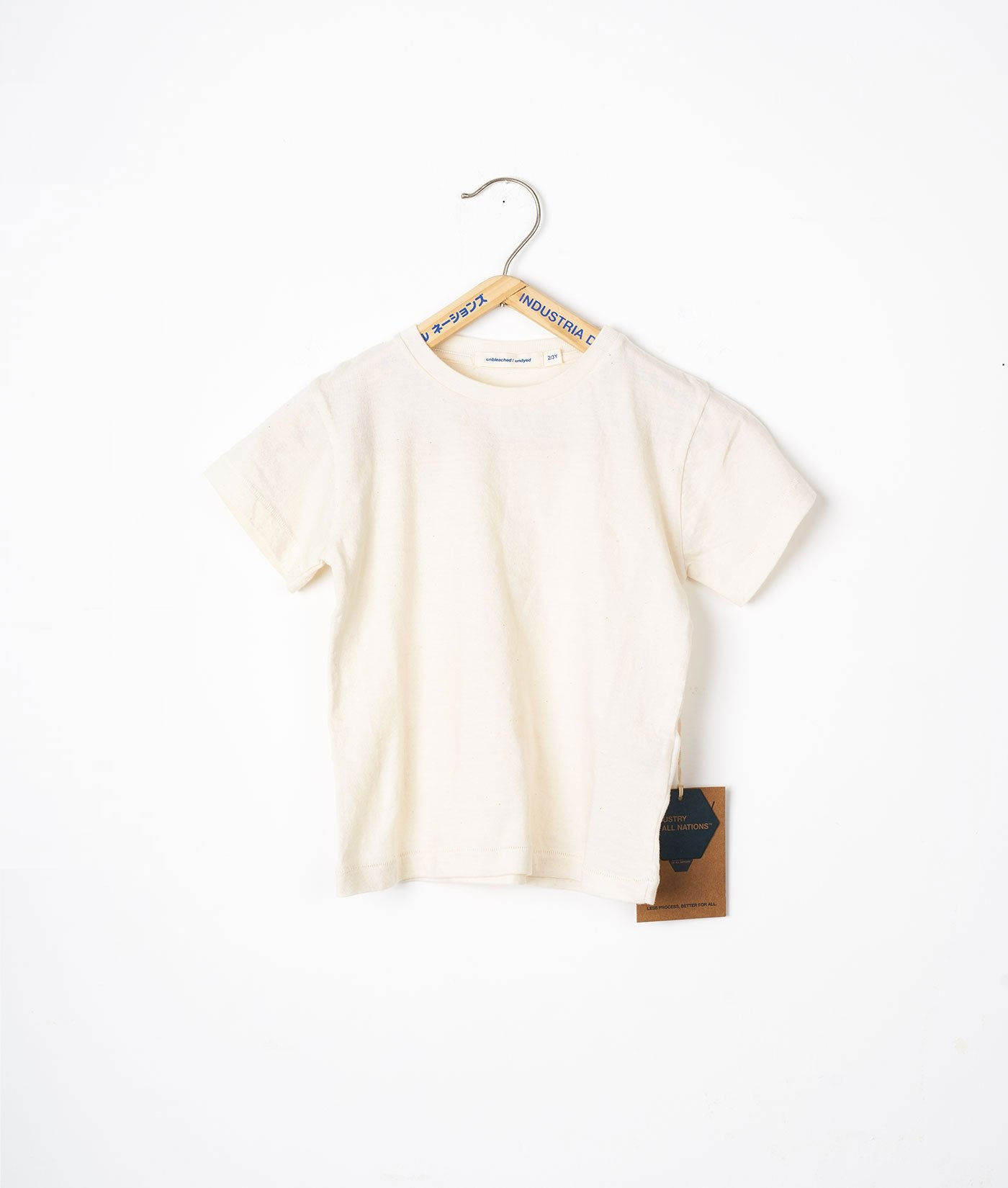 Industry of All Nations Kids Organic Cotton T-Shirt Natural