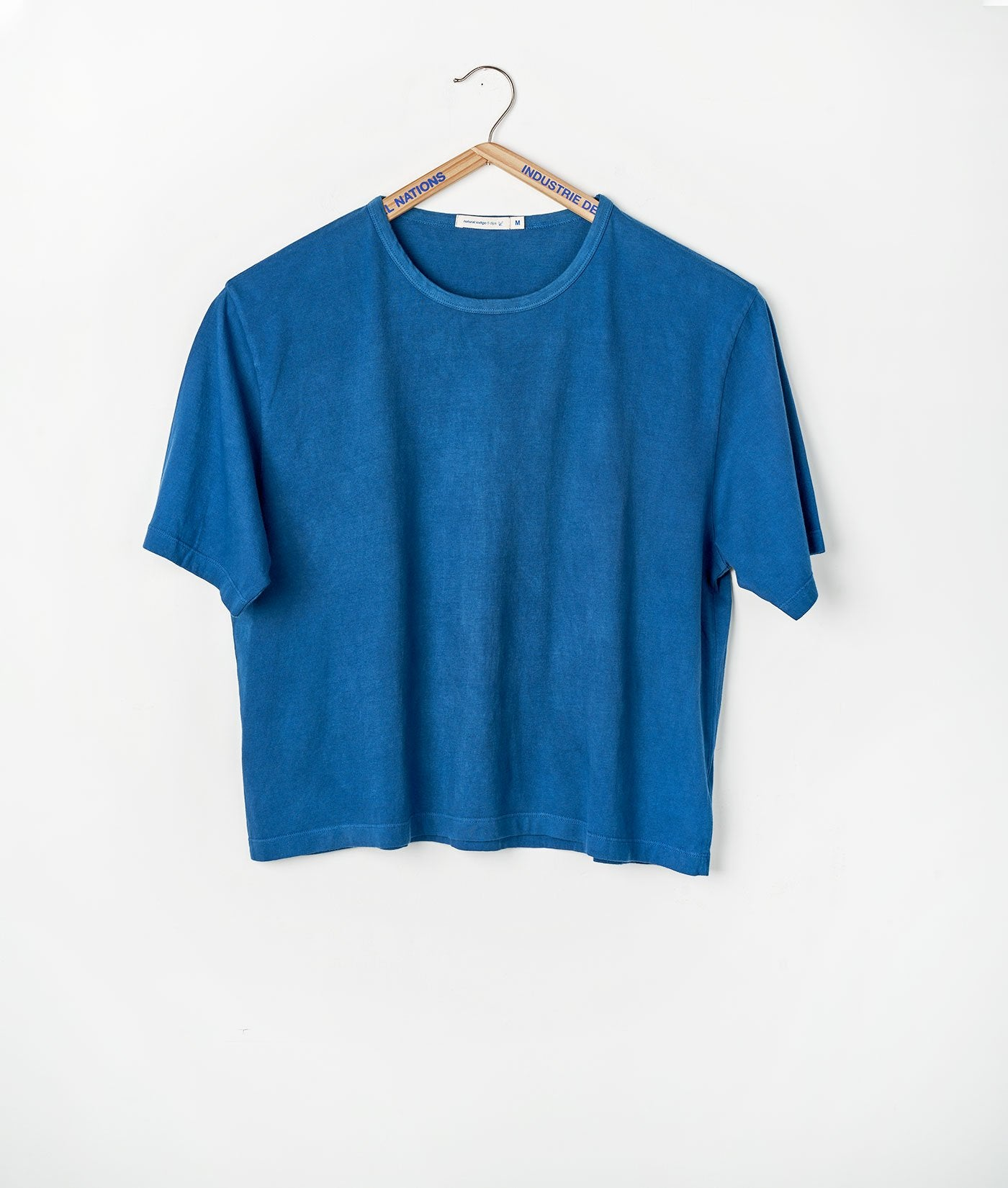 Industry of All Nations Organic Cotton Crop Top Indigo