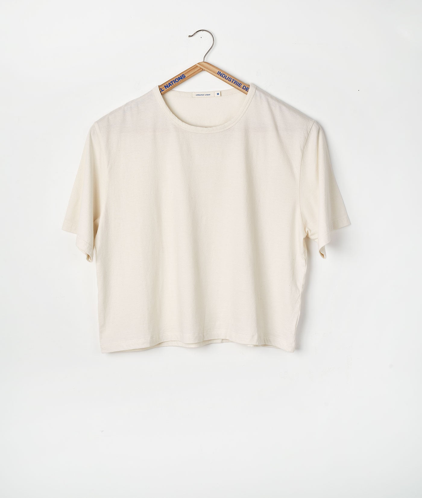 Industry of All Nations Organic Cotton Crop Top Natural
