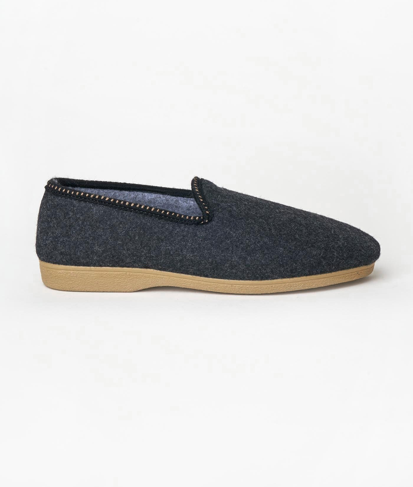 Industry of All Nations Cabrales Felted Wool Sustainable Slippers  Charcoal