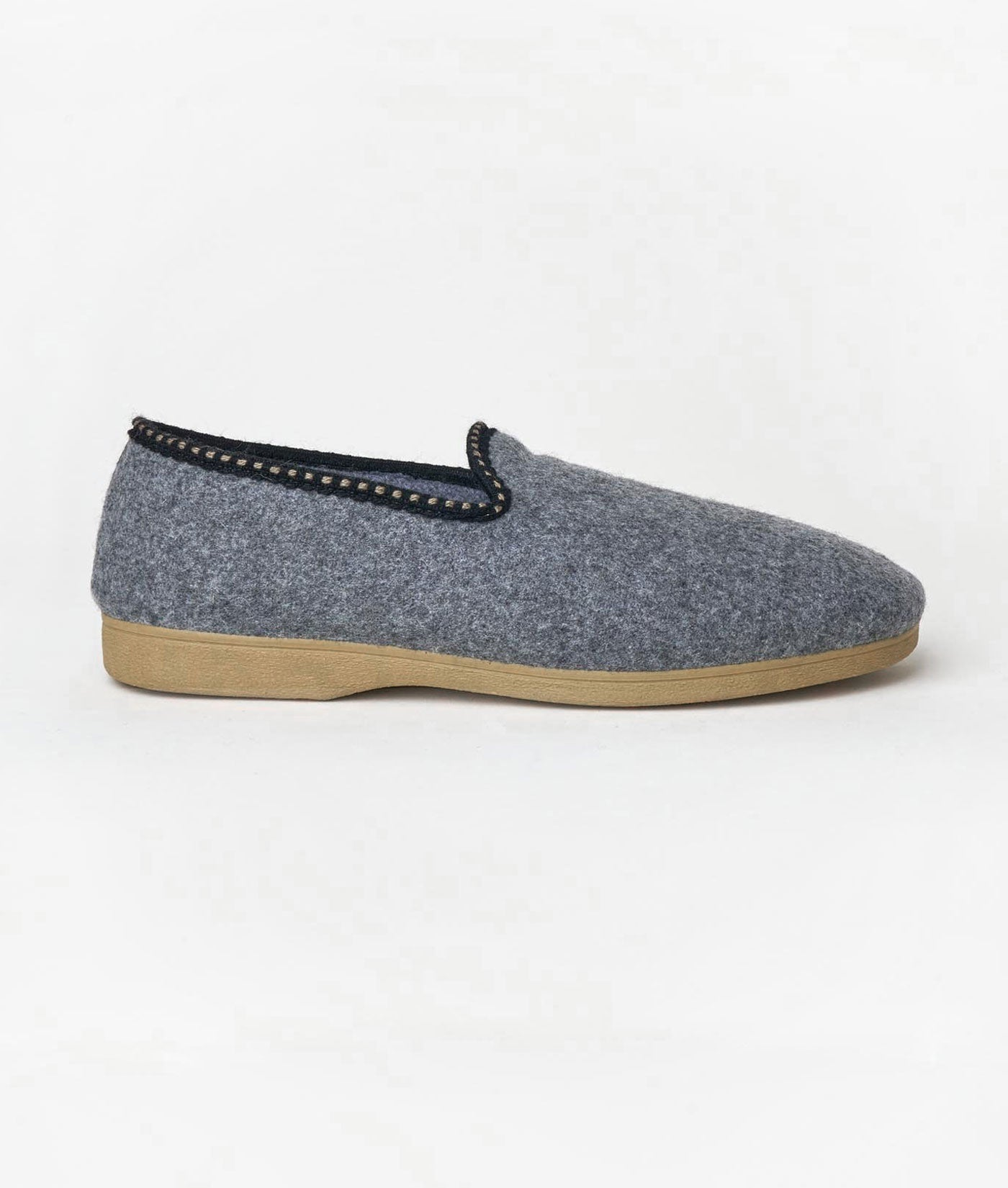Industry of All Nations Cabrales Felted Wool Sustainable Slippers  Grey