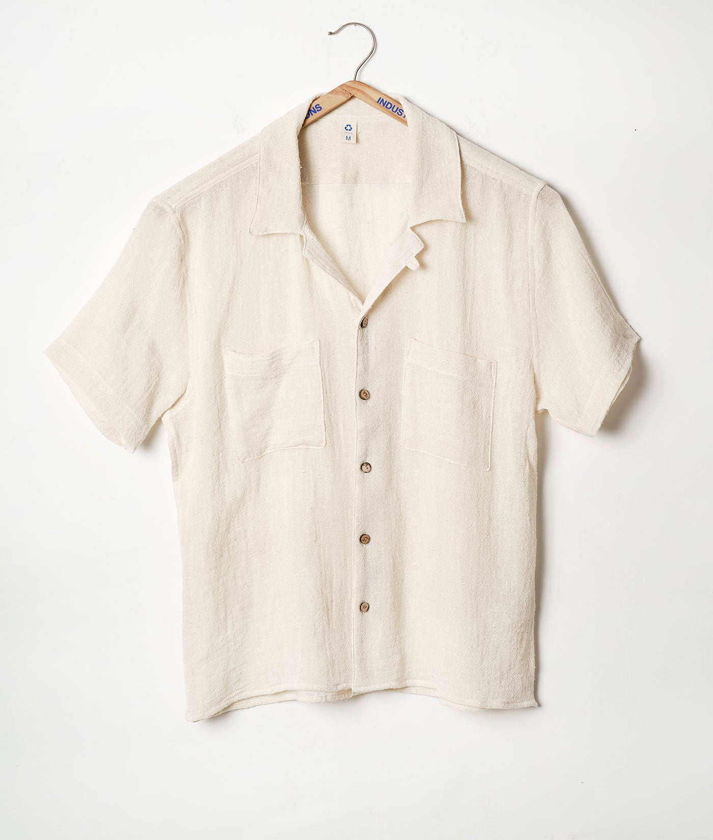 Industry of All Nations Upcycled Button Down Camp Shirt Coco