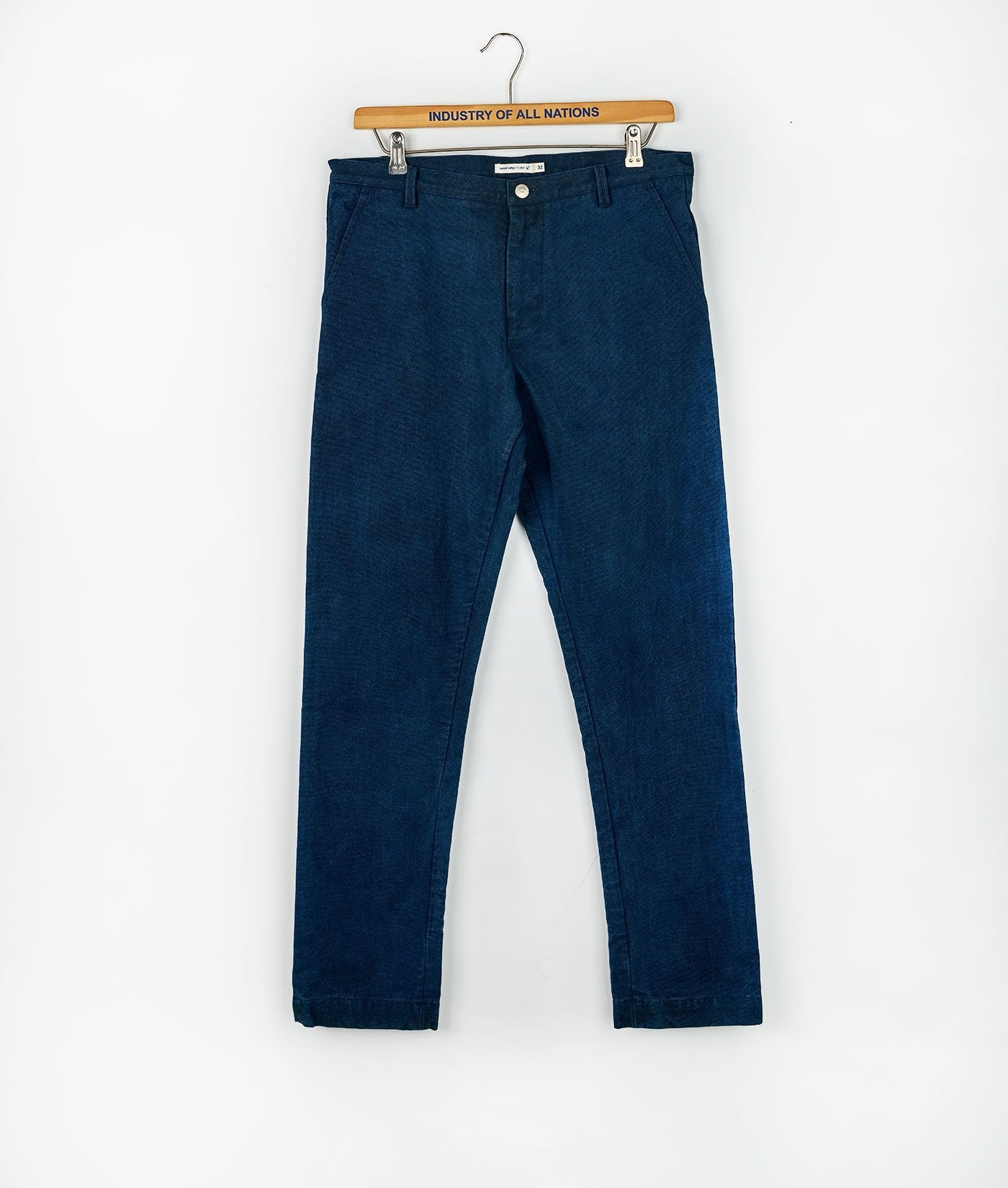 Industry of All Nations Organic Cotton Canvas Work Pants Indigo 12