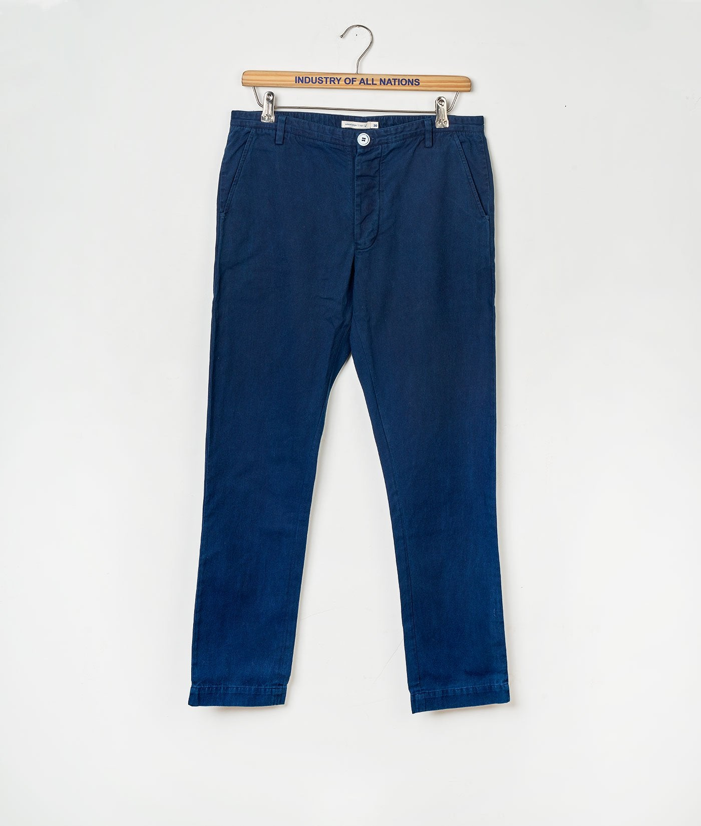 Industry of All Nations Organic Cotton Chino Pants Indigo 12