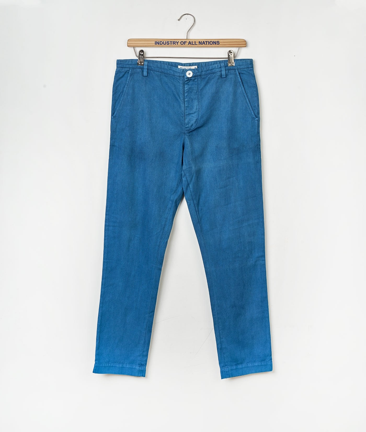 Industry of All Nations Organic Cotton Chino Pants Indigo 6