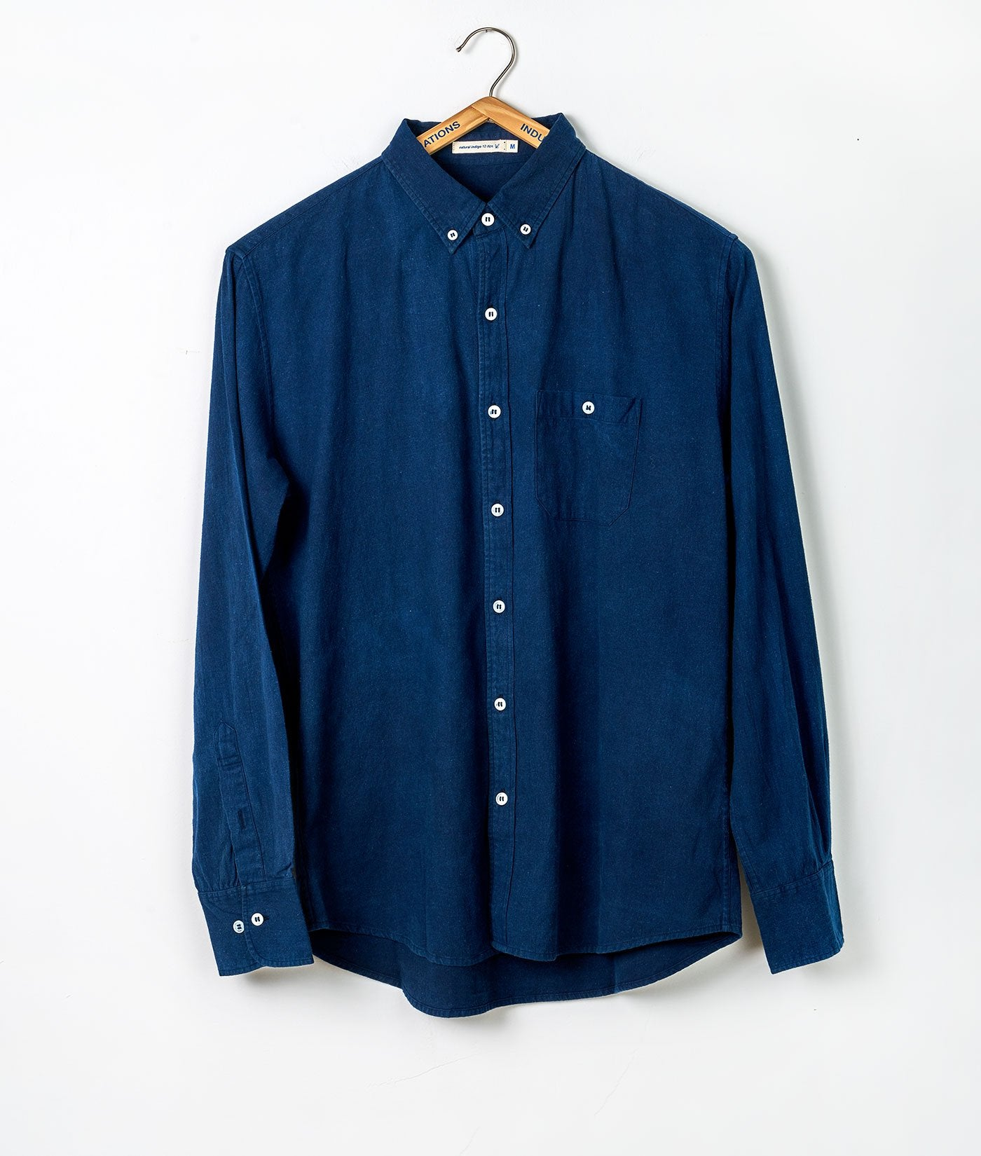 Industry of All Nations Heavy Cotton Button Down Work Shirt Indigo 12