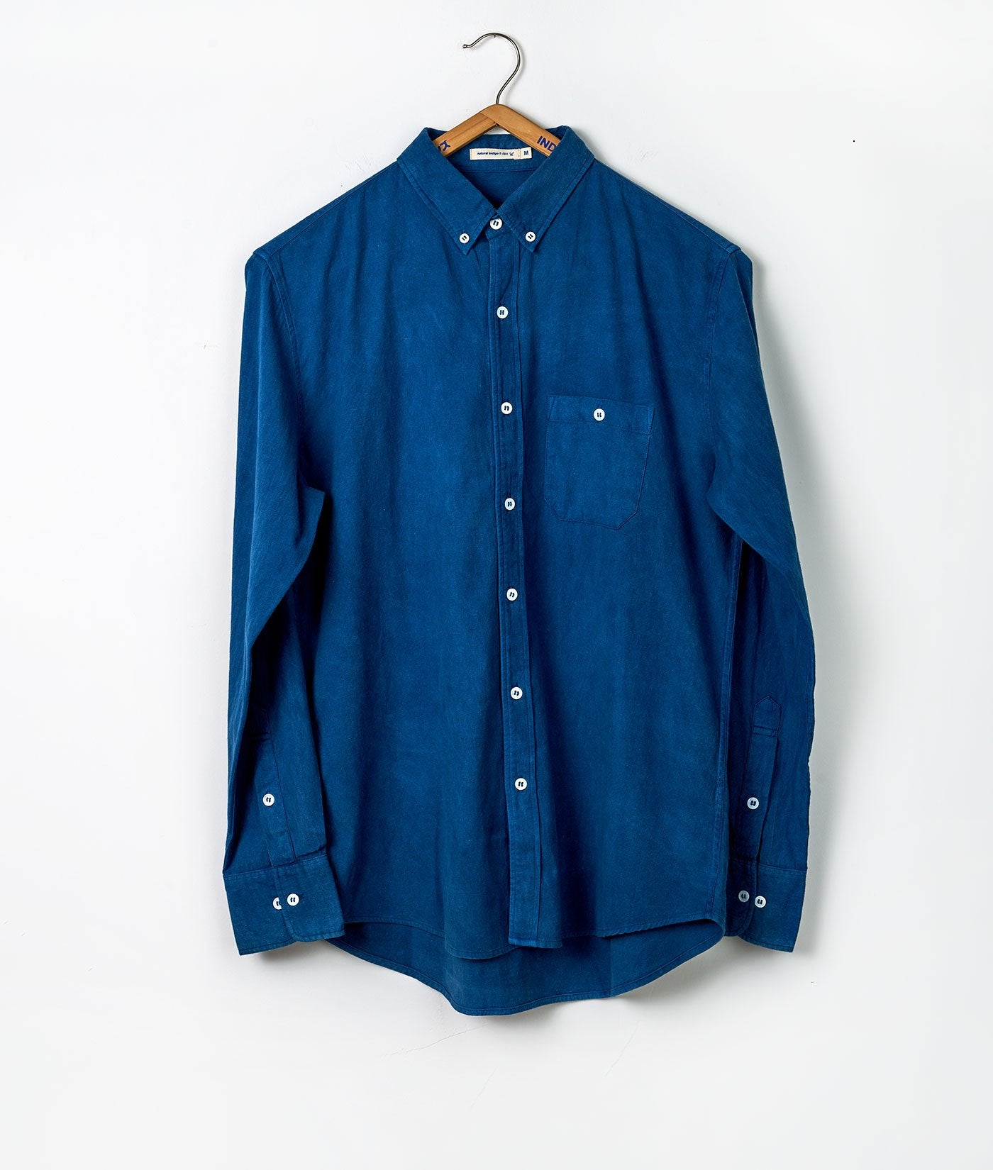 Industry of All Nations Heavy Cotton Button Down Work Shirt Indigo 6