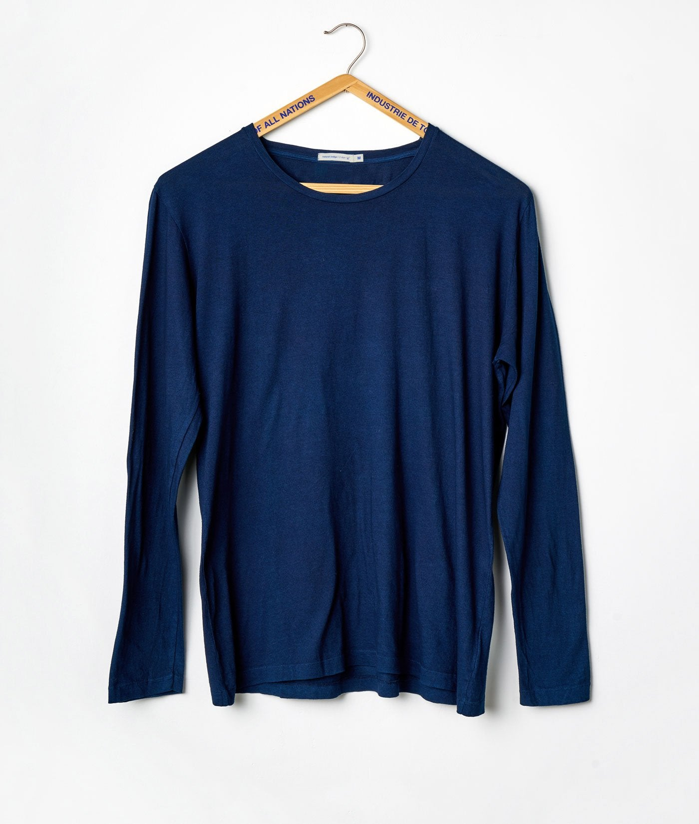 Industry of All Nations Organic Cotton Long Sleeve Crewneck Shirt Indigo 12