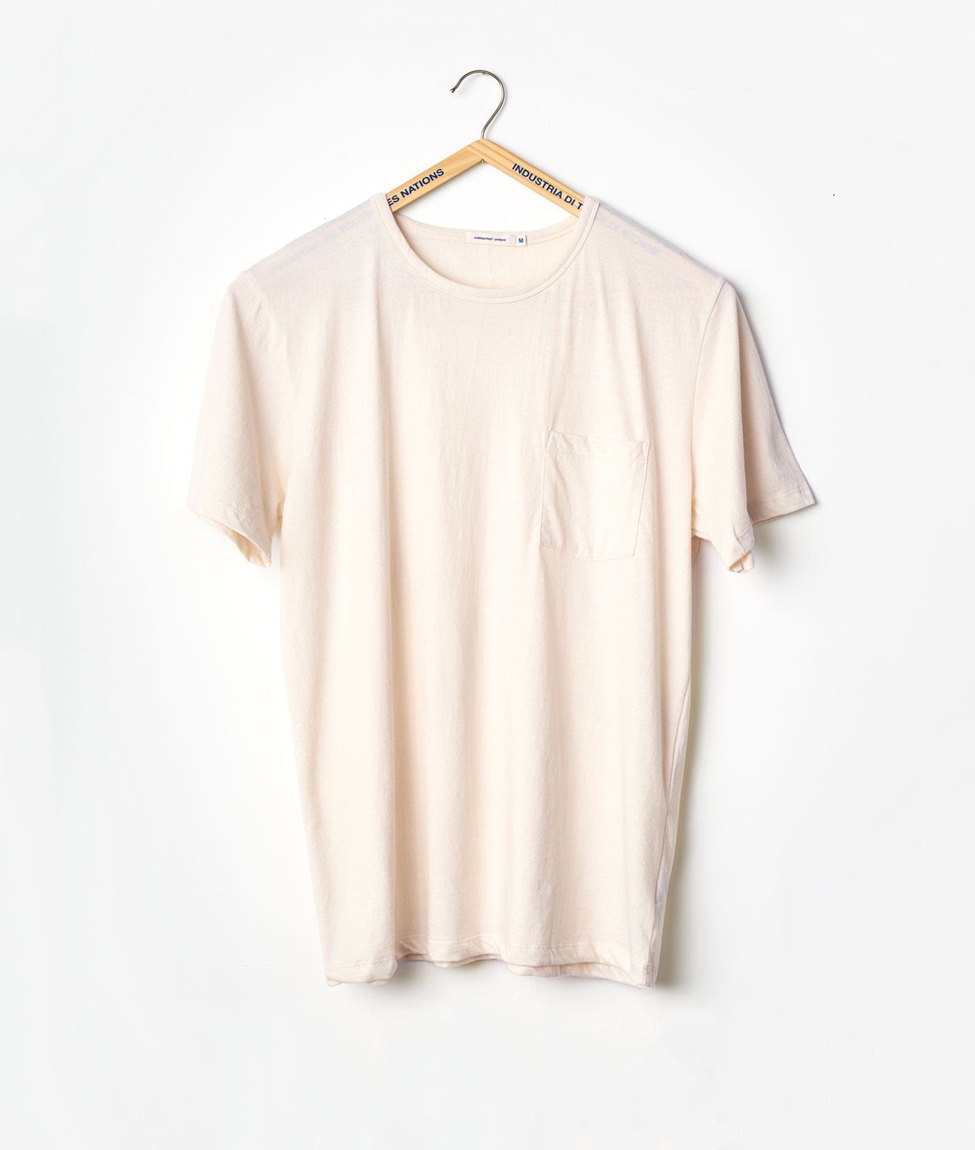 Industry of All Nations Clean Crewneck Pocket Tee Natural