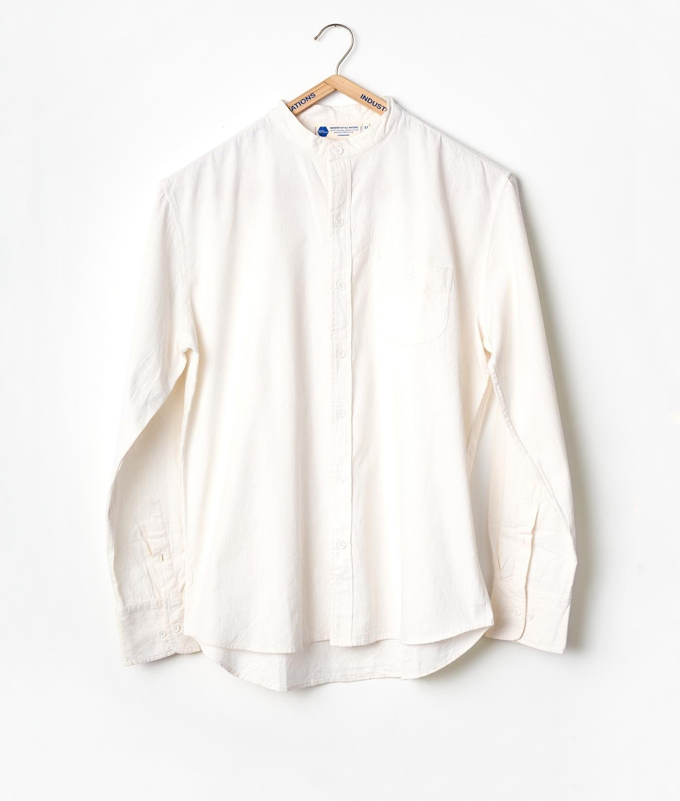 Mao Madras Shirt - Heavy Long Sleeve