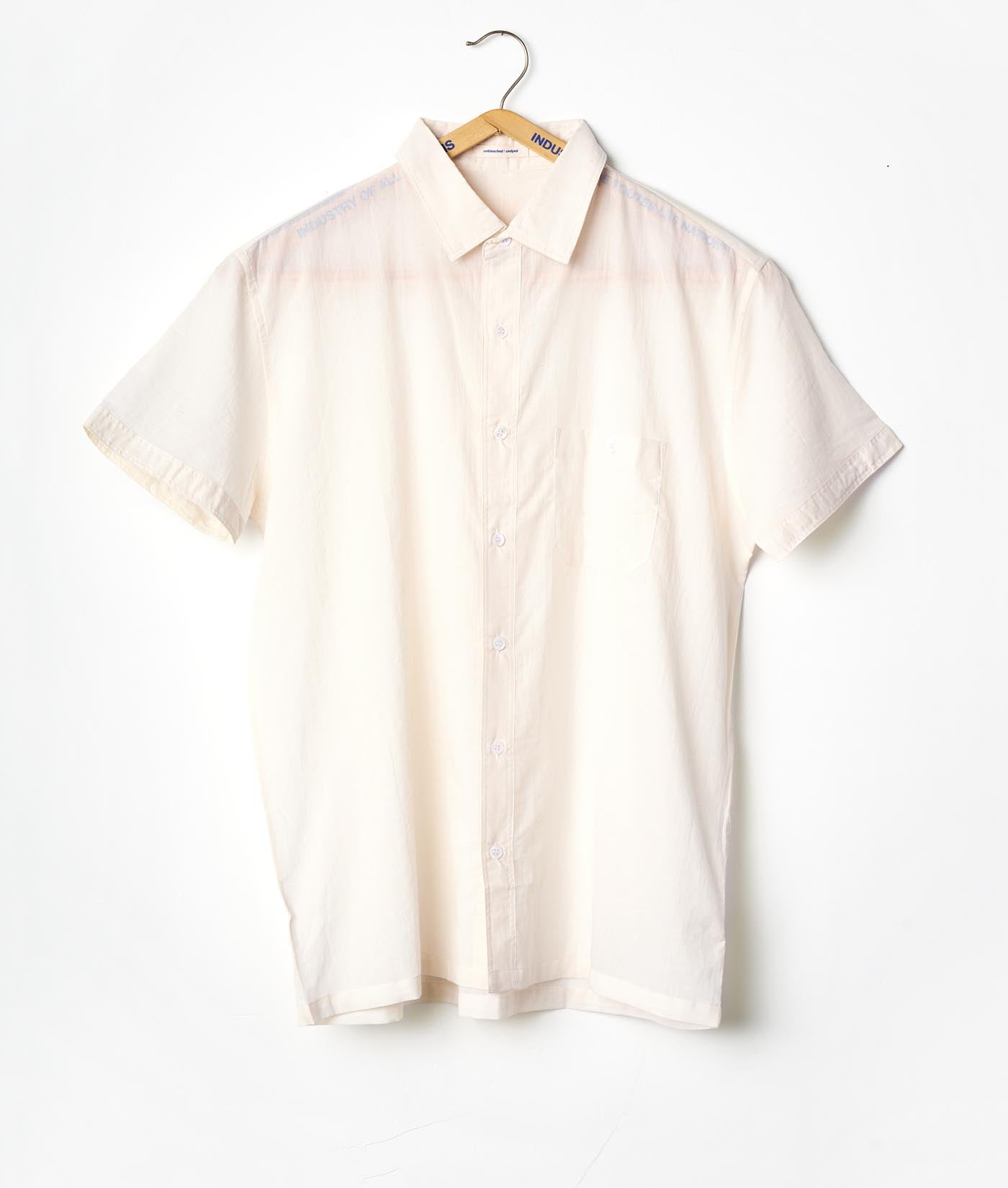 Industry of All Nations Madras Organic Cotton Short Sleeve Shirt Natural