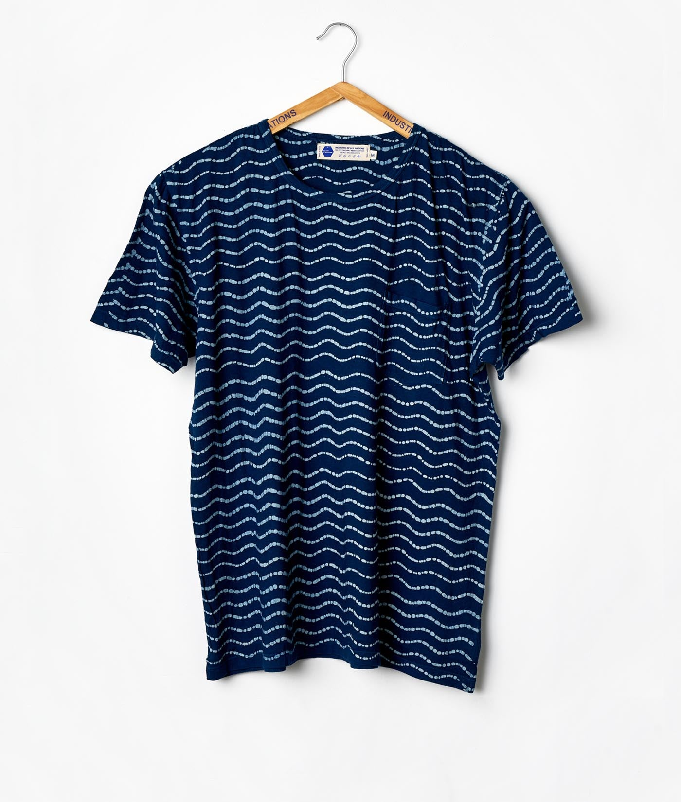Pocket Crewneck T-shirt - Batik Waves