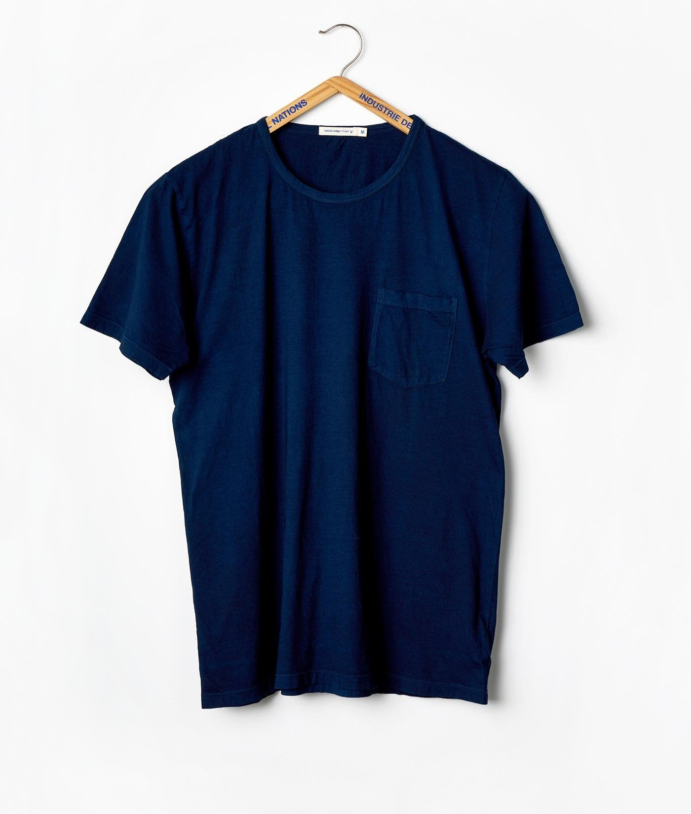 Industry of All Nations Clean Crewneck Pocket Tee Indigo 12