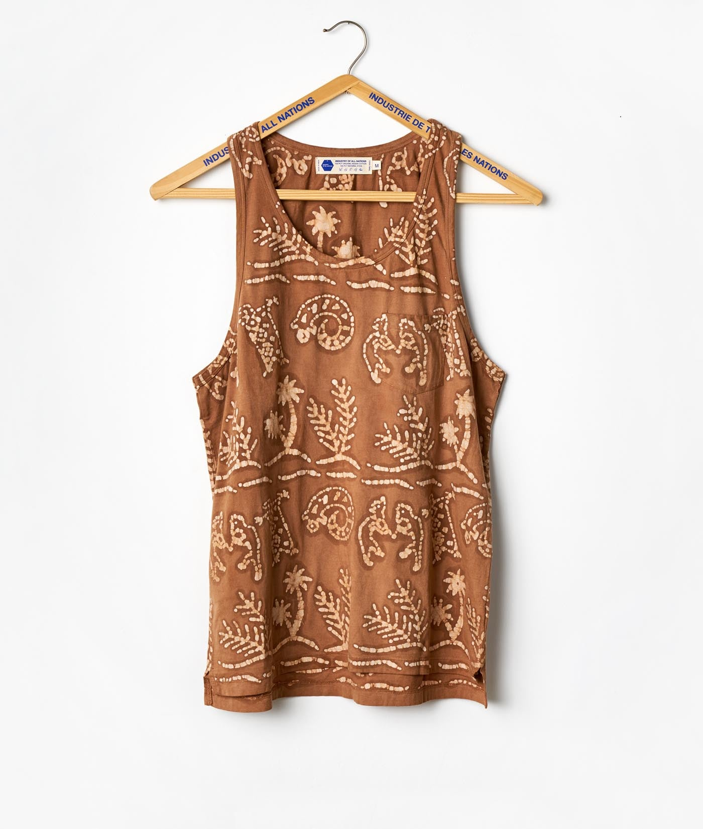 Industry of All Nations Block Printed Batik African Print Tank Top
